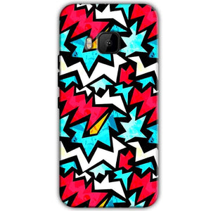 HTC One M9 Mobile Covers Cases Colored Design Pattern - Lowest Price - Paybydaddy.com