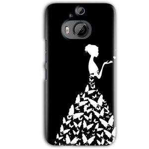 HTC One M9 Plus Mobile Covers Cases Butterfly black girl - Lowest Price - Paybydaddy.com