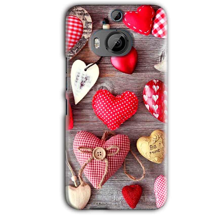 HTC One M9 Plus Mobile Covers Cases Hearts- Lowest Price - Paybydaddy.com