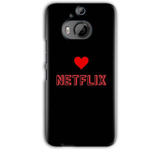 HTC One M9 Plus Mobile Covers Cases NETFLIX WITH HEART - Lowest Price - Paybydaddy.com