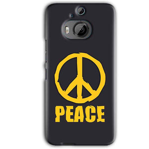 HTC One M9 Plus Mobile Covers Cases Peace Blue Yellow - Lowest Price - Paybydaddy.com