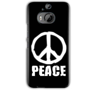 HTC One M9 Plus Mobile Covers Cases Peace Sign In White - Lowest Price - Paybydaddy.com