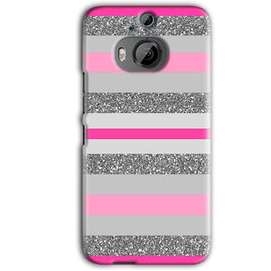 HTC One M9 Plus Mobile Covers Cases Pink colour pattern - Lowest Price - Paybydaddy.com