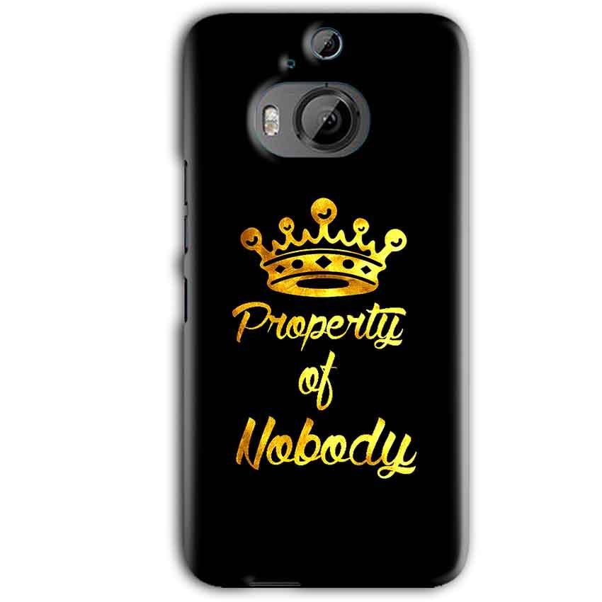 HTC One M9 Plus Mobile Covers Cases Property of nobody with Crown - Lowest Price - Paybydaddy.com