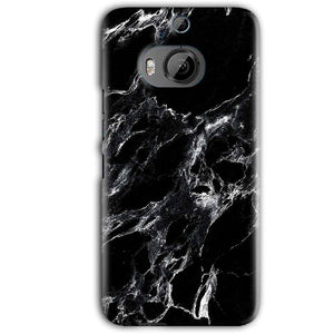 HTC One M9 Plus Mobile Covers Cases Pure Black Marble Texture - Lowest Price - Paybydaddy.com