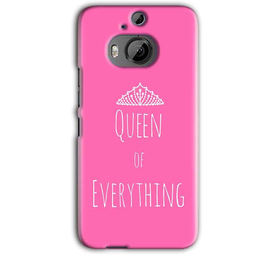 HTC One M9 Plus Mobile Covers Cases Queen Of Everything Pink White - Lowest Price - Paybydaddy.com