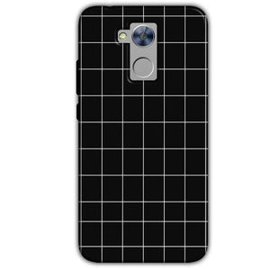 Honor Holly 4 Plus Mobile Covers Cases Black with White Checks - Lowest Price - Paybydaddy.com