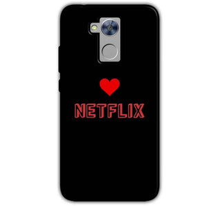 Honor Holly 4 Plus Mobile Covers Cases NETFLIX WITH HEART - Lowest Price - Paybydaddy.com