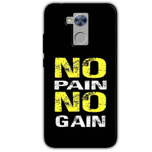 Honor Holly 4 Plus Mobile Covers Cases No Pain No Gain Yellow Black - Lowest Price - Paybydaddy.com