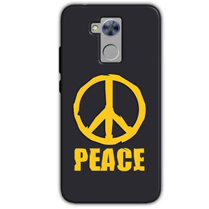 Honor Holly 4 Plus Mobile Covers Cases Peace Blue Yellow - Lowest Price - Paybydaddy.com