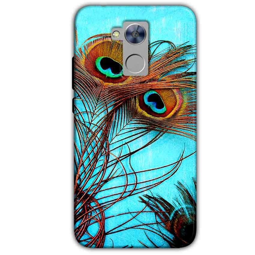 Honor Holly 4 Plus Mobile Covers Cases Peacock blue wings - Lowest Price - Paybydaddy.com
