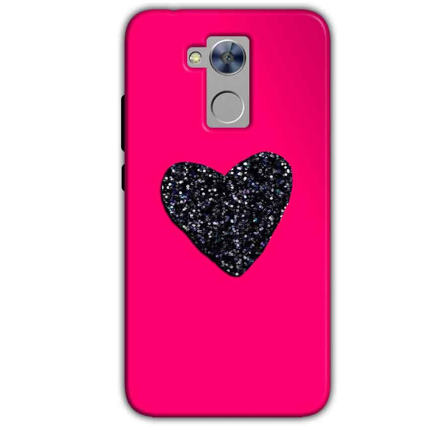 Honor Holly 4 Plus Mobile Covers Cases Pink Glitter Heart - Lowest Price - Paybydaddy.com