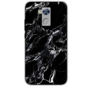 Honor Holly 4 Plus Mobile Covers Cases Pure Black Marble Texture - Lowest Price - Paybydaddy.com