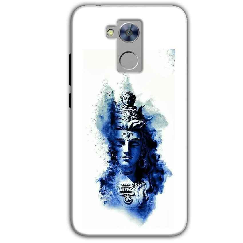 Honor Holly 4 Plus Mobile Covers Cases Shiva Blue White - Lowest Price - Paybydaddy.com