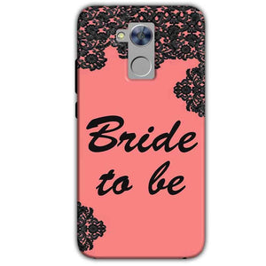 Honor Holly 4 Plus Mobile Covers Cases Mobile Covers Cases bride to be with ring Black Pink - Lowest Price - Paybydaddy.com