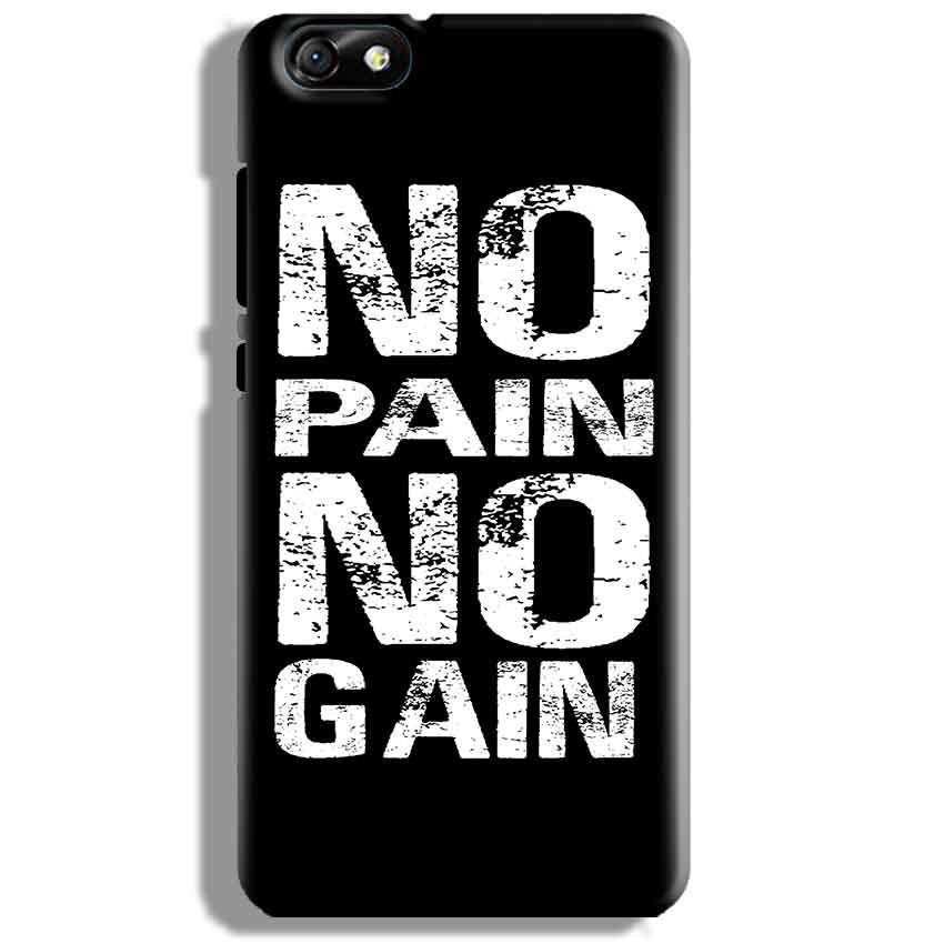 Huawei Honor 4X Mobile Covers Cases No Pain No Gain Black And White - Lowest Price - Paybydaddy.com