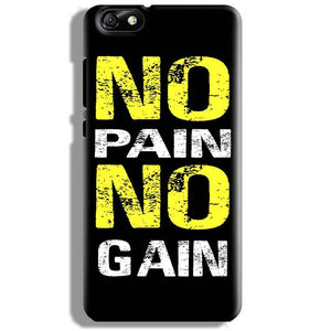 Huawei Honor 4X Mobile Covers Cases No Pain No Gain Yellow Black - Lowest Price - Paybydaddy.com