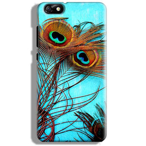 Huawei Honor 4X Mobile Covers Cases Peacock blue wings - Lowest Price - Paybydaddy.com