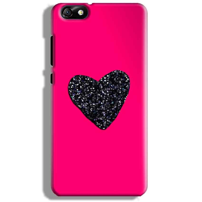 Huawei Honor 4X Mobile Covers Cases Pink Glitter Heart - Lowest Price - Paybydaddy.com