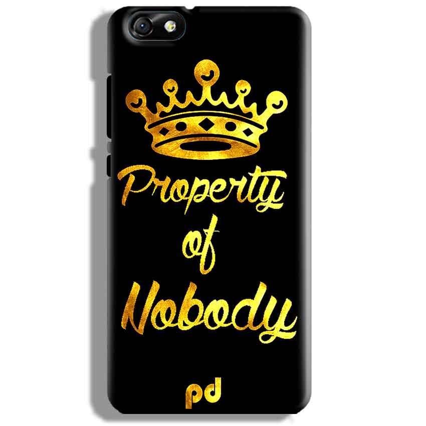 Huawei Honor 4X Mobile Covers Cases Property of nobody with Crown - Lowest Price - Paybydaddy.com