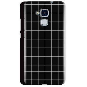 Huawei Honor 5C Mobile Covers Cases Black with White Checks - Lowest Price - Paybydaddy.com