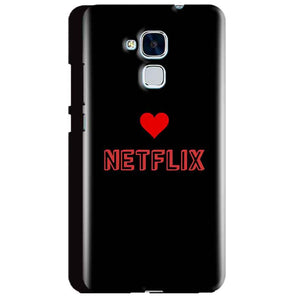 Huawei Honor 5C Mobile Covers Cases NETFLIX WITH HEART - Lowest Price - Paybydaddy.com