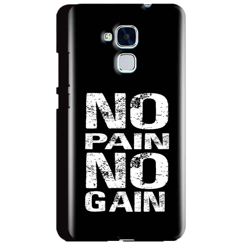Huawei Honor 5C Mobile Covers Cases No Pain No Gain Black And White - Lowest Price - Paybydaddy.com