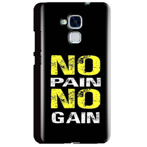 Huawei Honor 5C Mobile Covers Cases No Pain No Gain Yellow Black - Lowest Price - Paybydaddy.com