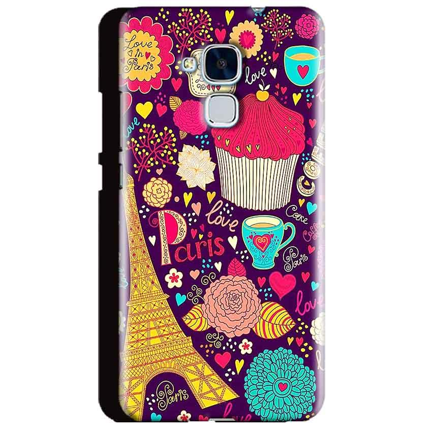 Huawei Honor 5C Mobile Covers Cases Paris Sweet love - Lowest Price - Paybydaddy.com