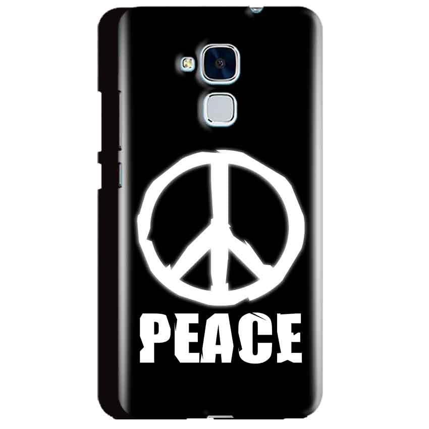 Huawei Honor 5C Mobile Covers Cases Peace Sign In White - Lowest Price - Paybydaddy.com