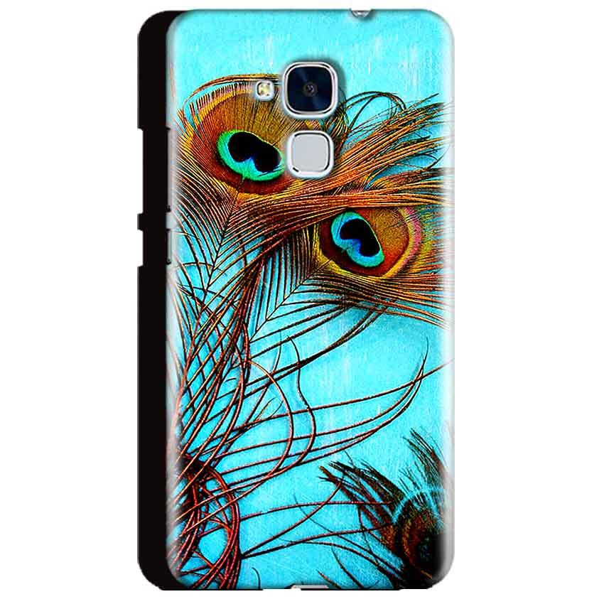 Huawei Honor 5C Mobile Covers Cases Peacock blue wings - Lowest Price - Paybydaddy.com