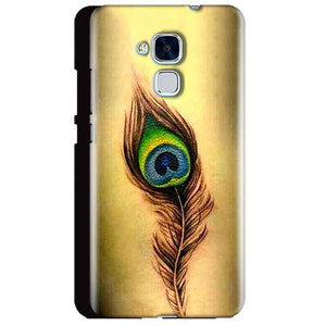 Huawei Honor 5C Mobile Covers Cases Peacock coloured art - Lowest Price - Paybydaddy.com