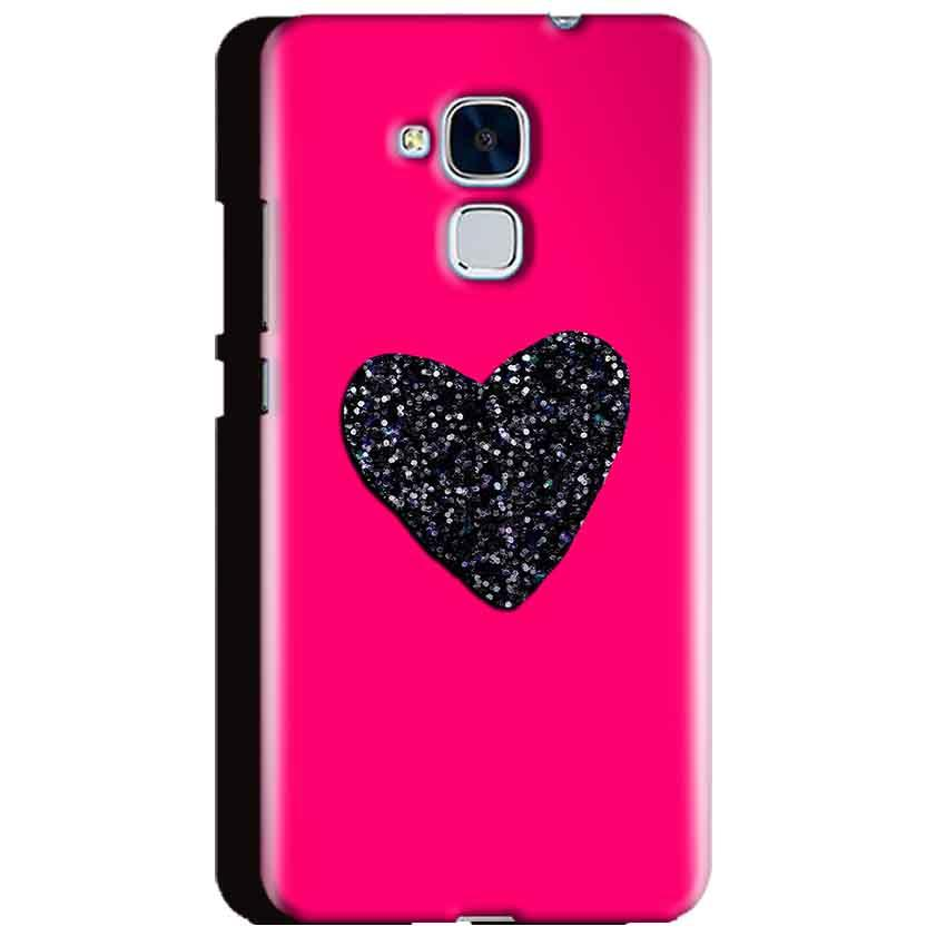 Huawei Honor 5C Mobile Covers Cases Pink Glitter Heart - Lowest Price - Paybydaddy.com
