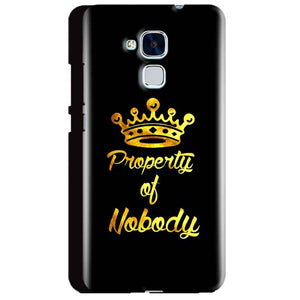 Huawei Honor 5C Mobile Covers Cases Property of nobody with Crown - Lowest Price - Paybydaddy.com