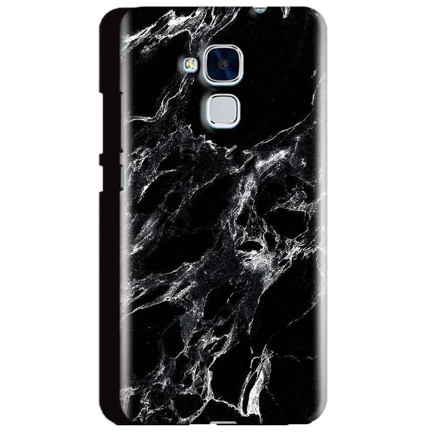 Huawei Honor 5C Mobile Covers Cases Pure Black Marble Texture - Lowest Price - Paybydaddy.com