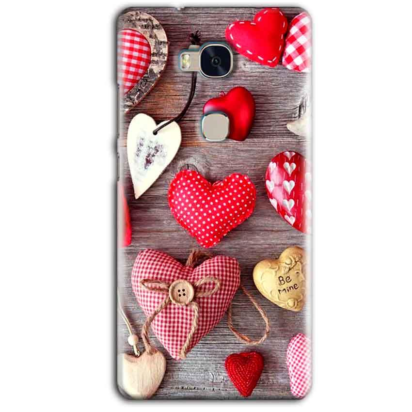 Huawei Honor 5X Mobile Covers Cases Hearts- Lowest Price - Paybydaddy.com