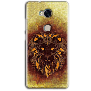 Huawei Honor 5X Mobile Covers Cases Lion face art - Lowest Price - Paybydaddy.com