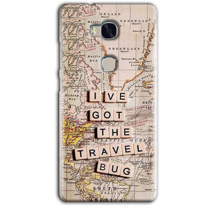 Huawei Honor 5X Mobile Covers Cases Live Travel Bug - Lowest Price - Paybydaddy.com