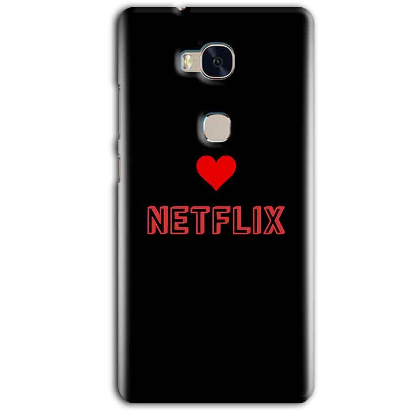Huawei Honor 5X Mobile Covers Cases NETFLIX WITH HEART - Lowest Price - Paybydaddy.com
