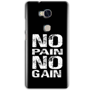 Huawei Honor 5X Mobile Covers Cases No Pain No Gain Black And White - Lowest Price - Paybydaddy.com