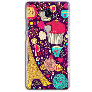 Huawei Honor 5X Mobile Covers Cases Paris Sweet love - Lowest Price - Paybydaddy.com