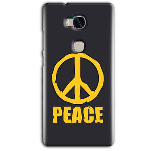 Huawei Honor 5X Mobile Covers Cases Peace Blue Yellow - Lowest Price - Paybydaddy.com