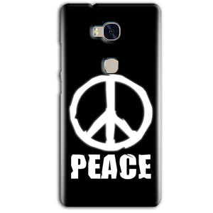 Huawei Honor 5X Mobile Covers Cases Peace Sign In White - Lowest Price - Paybydaddy.com