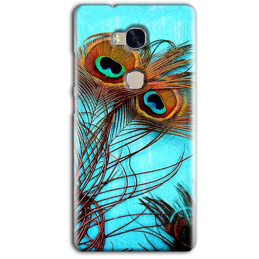 Huawei Honor 5X Mobile Covers Cases Peacock blue wings - Lowest Price - Paybydaddy.com