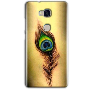Huawei Honor 5X Mobile Covers Cases Peacock coloured art - Lowest Price - Paybydaddy.com