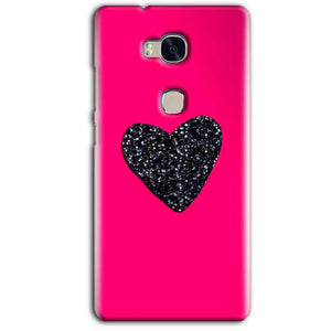 Huawei Honor 5X Mobile Covers Cases Pink Glitter Heart - Lowest Price - Paybydaddy.com