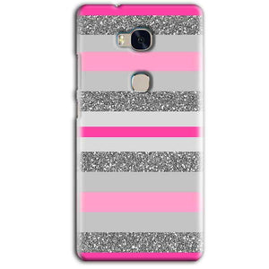 Huawei Honor 5X Mobile Covers Cases Pink colour pattern - Lowest Price - Paybydaddy.com