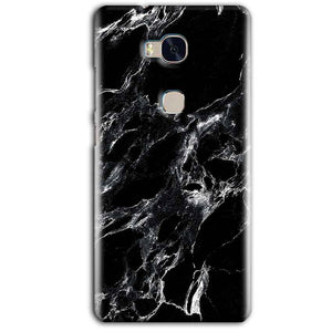 Huawei Honor 5X Mobile Covers Cases Pure Black Marble Texture - Lowest Price - Paybydaddy.com