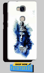 Huawei Honor 5X Mobile Covers Cases Shiva Blue White - Lowest Price - Paybydaddy.com