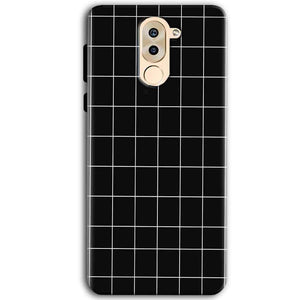 Huawei Honor 6X Mobile Covers Cases Black with White Checks - Lowest Price - Paybydaddy.com